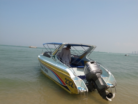 ラン島行きのスピードボート