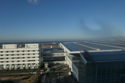 セントレアホテルの部屋からの眺望