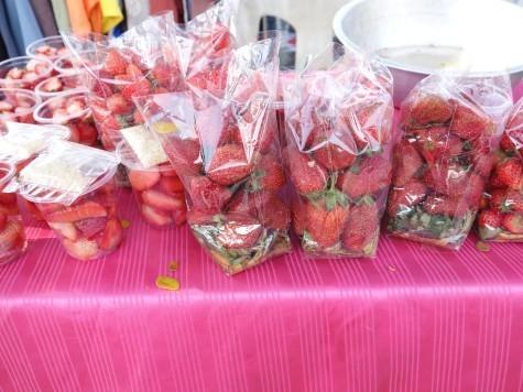 タイ産日本苺とタイ苺