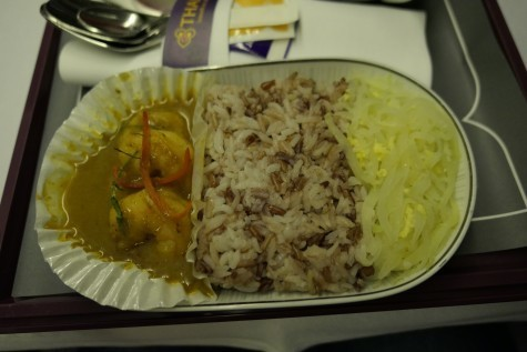 TG117ビジネスクラス機内食