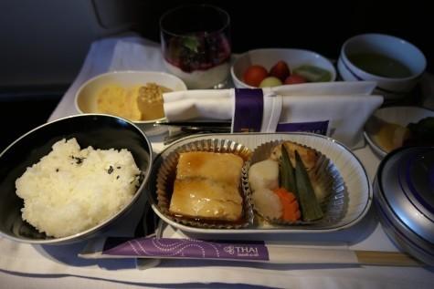 TG644ビジネスクラス機内食
