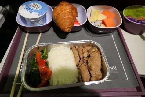 2回目の機内食